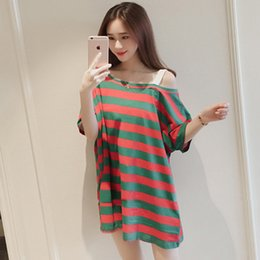 Wholesale short nightgowns for women - Wholesale- New Nightskirt plus polyester Women Short sleeve princess Nightgown for women Lovely Cartoon loose Leisure Home clothes sleep