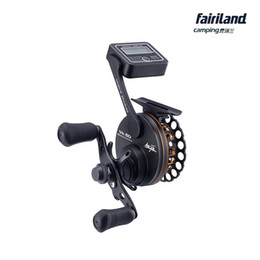 Wholesale Hand Line Fishing - VK60 6BB 2.6:1 full metal gear Left Right hand w  line counter raft fishing reel fly ice fish reel Patented Product