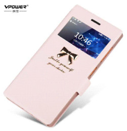 Wholesale Vpower Lenovo - Lenovo x2 vibe Vpower View window High Quality Stand Flip Leather Case Lenovo Vibe x2 Phone Cover Case+Screen Protector Freeship