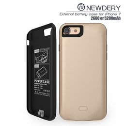 Wholesale Iphone Charging Battery - Best price 2600mAh External backup fast charging 5200mAh mobile power bank case portable battery charger case for iPhone 7 8