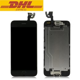 Wholesale Display Iphone Home - For Apple iphone 6 LCD Display Touch Screen With Digitizer Assembly + Front Camera + Home Button 4.7inch DHL Freeshipping