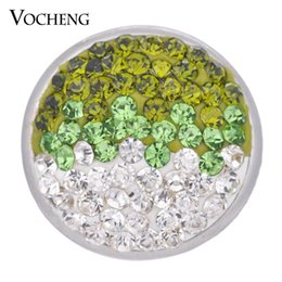Wholesale Wholesale Green Jewelry - VOCHENG NOOSA 18mm Sugar Ginger Snap 4 Colors Bling Interchangeable Jewelry Vn-1053