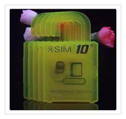 Wholesale Iphone 3g Adapter - HOT R-SIM10 plus RSIM 10+ R SIM R-SIM10+ For iphone 6S 6 plus 5S 5C 5G 4S IOS9 IOS 9 9.1 GSM CDMA WCDMA 4G 3G 2G unlock sim R 11 10+