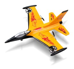 Wholesale Remote Controlled Flight - Wholesale-2.4G remote control aircraft F16 fixed-wing aircraft 4CH RC glider Easy to control and stable flight sturdy ruggedness