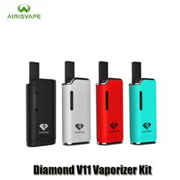 Wholesale Diamonds Battery - 100% Original Airis Diamond V11 Vaporizer Kit 280mAh Auto Battery Mod Vape Pen Kits With G2 Thick Oil Cartridges