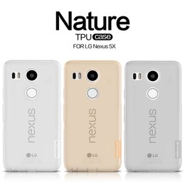 Wholesale Nexus S Line Tpu - NILLKIN Ultra Thin Transparent Nature TPU Case For LG Nexus 5X, S Line Clear TPU Soft Back cover For LG Nexus 5X with package