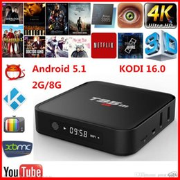 mx amlogique Promotion 2.4GHz WiFi Bluetooth 4.0 T95m Android TV Box Amlogic S905 Quad Core S905 64Bit Android 5.1 Media Player 2GB 8 GB
