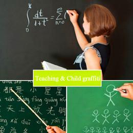 Wholesale Green Wall Board - Blackboard Stickers Removable Vinyl Draw Erasable Blackboard Learning Office Notice Board Message Board Drawing Board 45*100 cm