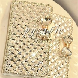 Wholesale Galaxy S3 Bling Wallet Case - For Samsung Galaxy S3 S7 s6edge Note 2 Note 3 iPhone 5 Luxury Bling Diamond Leather Case Cover