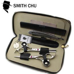 Tesouras smith chu on-line-Atacado-Smith chu cabelo tesoura tesoura de cabeleireiro profissional de alta qualidade de corte desbaste tesoura tesoura cabeleireiro navalha de barbeiro