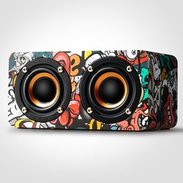 Wholesale Universal Multimedia Car - Wooden Loud Portable Speakers Bluetooth Speaker for Car Trend Mobile phone Bluetooth HIFI Speaker Bluetooth Home High Power Multimedia Music