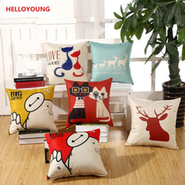 Wholesale Couples Chair - BZ066 Luxury Cushion Cover Pillow Case Home Textiles supplies Lumbar Pillow Couple cats decorative throw pillows chair seat