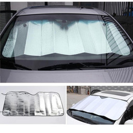 Wholesale Front Windshield Sun Shade Visor - Wholesale- Front Windshield Car Window Foldable Sun Visor Shade Shield Sunshade Cover Accessories Silver Color Foam