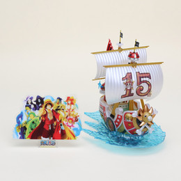 Wholesale One Piece Sunny Action Figure - 15cm One Piece Thousand Sunny Pirate Ship Model PVC Action Figure Collection Toy