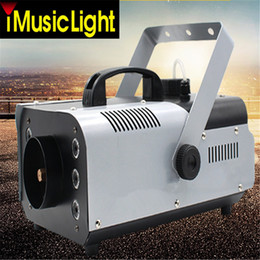 Wholesale Smoke Machines - 1500W RGB 3in1 (6pcs LED) Smoke Machine Remote or Wire Control Stage Fog Machine