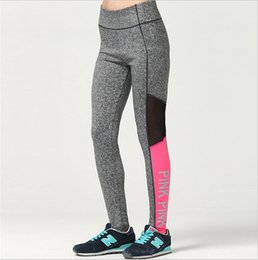 Wholesale Wholesale Ladies Tights Leggings - VS Love Pink Quick-dry Women Yoga Pants Sexy Victoria Sportswear joggings Gym Secreat Tights Trousers Fitness Leggings for Ladies Girls New