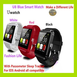 Wholesale Pair Phone - U8 Bluetooth Smart Watch Fashion Casual Android Watch Digital Sport Wrist LED Watch Pair For iOS Android Phone VS DZ09 GT08 A1 Smartwatch