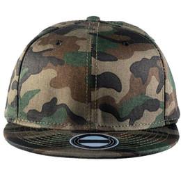 Wholesale Wholesale Flat Bill Hats - Camouflage Camo Flat Bill Baseball Hats Cotton Snapback Adjustable C00275 SMAD