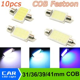Wholesale Blue 36mm Festoon - 31mm 36mm 39mm 41mm Dome Festoon COB LED 12smd leds Car Reading Lamp Light Crystal Blue White Lights DC 12V