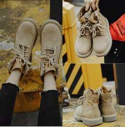 Wholesale Winter Shoes Without Laces - Women's Shoes Without Heels Martin boots Fall Winter Warm Flat Heel Free Shipping Winter snow boots In Stock Wedding Shoes