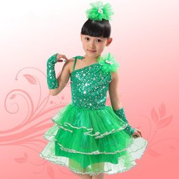 Wholesale Costumes For Students - ballet dresses for girls Children's Day Nursery students performing Siamese girls costumes decorated with hand- wrist Latin dance skirt