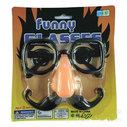 Wholesale Games Designers - Kids Child Kid Amusement Toys Novelty Games glasses For Girls and Boys Designer Glasses With Eyebrows and Big Nose Party Glasses Toys S10