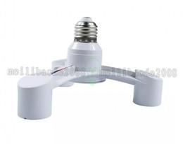 Wholesale Photo Socket - High Quality White Color 3 In 1 E27 to E27 LED Lamp Bulbs Socket Splitter Adapter Holder For Photo Studio MYY