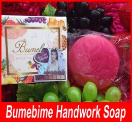 Wholesale Cleaning Essential Oils - Bumebime Handwork face body cleaning moisturizing Soap with Fruit Essential Natural Mask BUMIBIME Bright Oil Soap free shipping