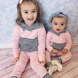 Trajes de Navidad para niñas Bebé Chaquetas con capucha Pantalones Cortos 2 Unids Conjunto Algodón Rayas Rosa Recién Nacido Pijamas Jumpers Niño Ropa infantil desde fabricantes