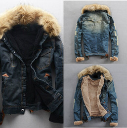 Wholesale Cheap Vests Color Fur - New Winter Men's Warm Cowboy Jacket Cheap Long Sleeve Outwear Free Shipping Fall Thick Groom Vests