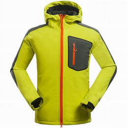 Wholesale Fleece Button Jacket - 2016 Top warm fleece famous Outerwear Outdoor Sports jackets Windproof Breathable Softshell Men coats Outdoor Hiking Climbing sports coat