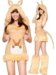 Wholesale Latex Clothing For Sale - Wholesale-new Sexy Halloween Female clothes Maomao animals red bird Cosplay Costume free Size for Halloween hot sale W418999