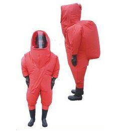 químicos naranjas Rebajas Tipo de naranja pesado traje de protección química totalmente cerrado