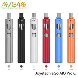 Wholesale Ego C Kits - Joyetech eGo AIO Pro C Starter Kit BF SS316 DL MTL Head Coil fit Single 18650 Battery