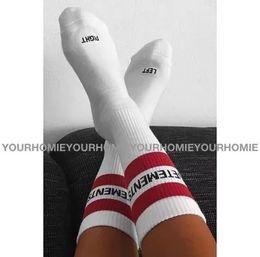 Wholesale Collection Cotton - VETEMENTS Socks Men Women 2017 New Collection Hip Pop Fashion Two Stripe Streetwear White Black Stockings