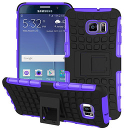 Wholesale Armor Series Iphone - 2in1 Rugged Armor Hybrid TPU PC Durable Shockproof with Kickstand Hard case for iphone 7 series Samsung galaxy S7 Edge note5