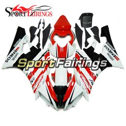 Wholesale Injection Yamaha R6 - Injection Fairings For Yamaha YZF600 YZF R6 06 07 YZF-R6 2006 2007 ABS Motorcycle Fairing Kit Bodywork Motorbike Cowling Red White New