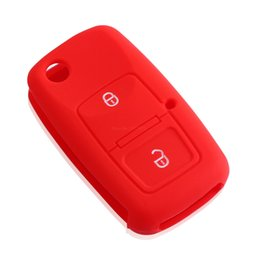 Wholesale Silicone Key Cover For Vw - New 2 Buttons Silicone Car Key Cover For VW Volkswagen Passat Polo Golf Touran Bora Jetta Cady Touran Sharan Transporter