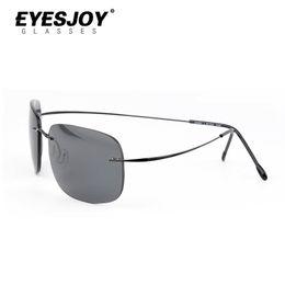 Wholesale Light Brown Frame Glasses - Rimless Sunglasses Silhouette Memory Pure Titanium Sun Glasses Frame Men Ultra Light Thin With Sunglasses Box Free Shipping SLH7611