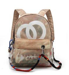 Wholesale High quality Fashion New Travel Bags Graffiti color retro shoulder bags catwalk men and women casual canvas bag backpack bag