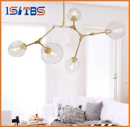 Wholesale Modern Hotel Chandelier - Lindsey Adelman Chandeliers lighting modern lamp novelty pendant lamp natural tree branch suspension Christmas light hotel dinning room