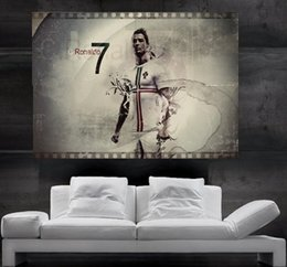 Wholesale Real Roll - CR7 Cristiano Ronaldo Real Madrid and Portugal Poster print wall art 8 parts giant hug free shipping NO15
