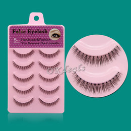 Wholesale Nature Cross - Wholesale-5 Pairs 2016 HOT SALE Women Lady New Nature Short Cross Daily Fake Eye Lashes Fashion False Eyelashes Makeup Tools
