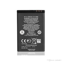 Wholesale Bp 3l Battery - Replacement Lumina 710 Battery For Nokia Lumia 900 Asha 603 Asha 303 BP-3L BP3L 1300mAh