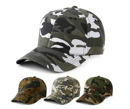 Wholesale Blank Ball Caps Wholesale - Mens Army Military Camo Cap Baseball Casquette Camouflage Hats For Men Hunting Camouflage Cap Women Blank Desert Camo Hat