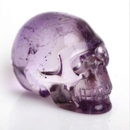 Wholesale Pretty Homes - Hot sale! 28g Pretty Natural Amethyst,Crystal Skull, Realistic,Crystal Healing Reiki Crystal Stone Free shipping