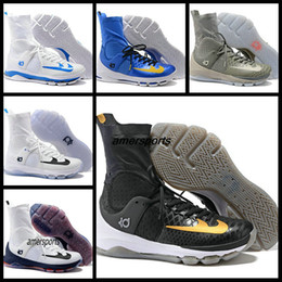 Wholesale Kd High Top Shoes - Kevin Durant KD 8 White Blue Black Gold Wolf Grey Mens Basketball Shoes Sneakers High Top Basket Ball KD8 KDS Sport KD Shoes Boost 7 -12