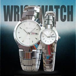Wholesale Complete Black Suit - WLISTH Wristwatch male suit couple watches luminous waterproof steel watch ladies Watch Calendar Male Watch Free Shipping