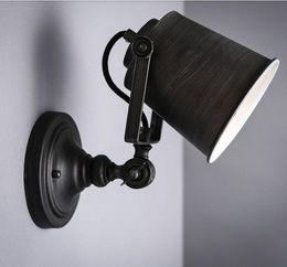2019 luminaires de peinture Personnalisé led mur éclairage bras oscillant Vintage lumière noire main peint mur lumière lampe escalier luminaire intérieur luminaires de peinture pas cher
