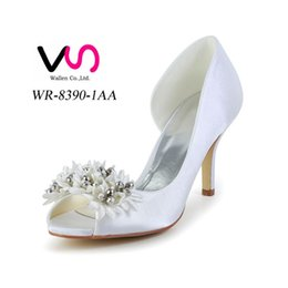 Wholesale Ivory Bridal Sandals - 2016 Ivory Color Peep Toe Elegant Style Bridal Shoes Wedding Dress Shoes Handmade Shoes for Wedding From Size35-Size 42 Free Shipping
